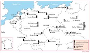 Kaart concentratiekampem